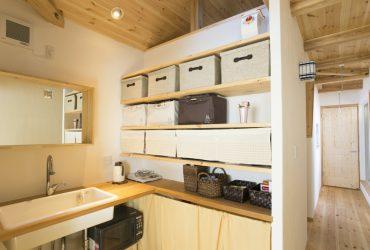 2階にあるミニキッチン | 自然素材の注文住宅,健康住宅 | 実例写真 | 埼玉県さいたま市