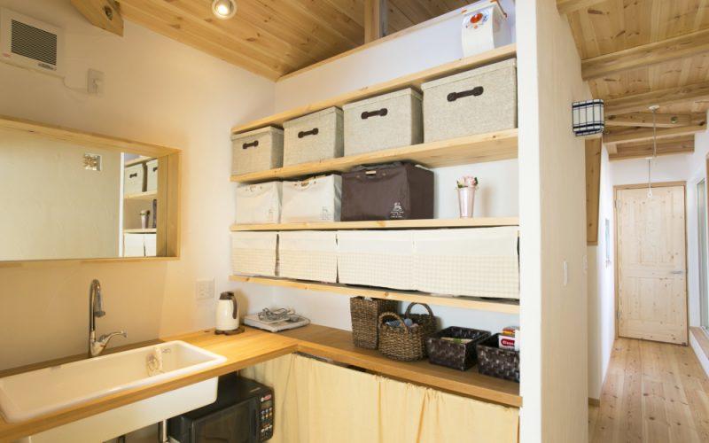 2階にあるミニキッチン   自然素材の注文住宅,健康住宅   実例写真   埼玉県さいたま市