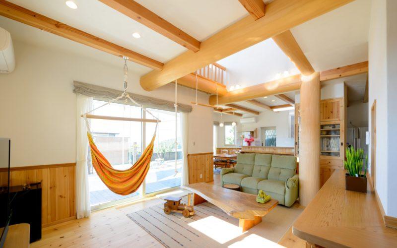 広く開放的なリビング   自然素材の注文住宅,健康住宅   実例写真   愛知県小牧市