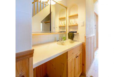 清潔感のある洗面台 | 自然素材の注文住宅,健康住宅 | 実例写真 | 愛知県小牧市
