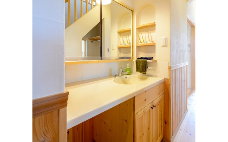 清潔感のある洗面台   自然素材の注文住宅,健康住宅   実例写真   愛知県小牧市