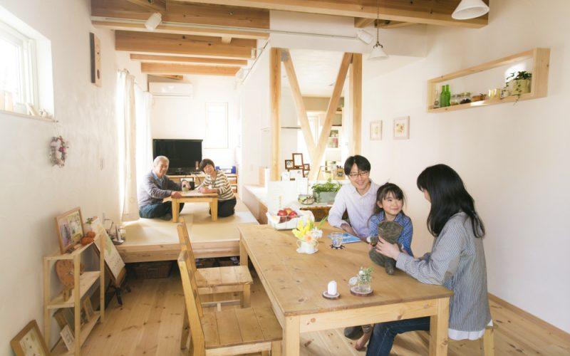 木の香りや温もりに癒される心地の良いリビング   自然素材の注文住宅,健康住宅   実例写真   埼玉県さいたま市
