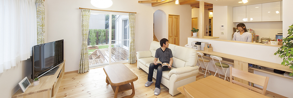 ほどよい距離感が心地いい 同居型2世帯の家
