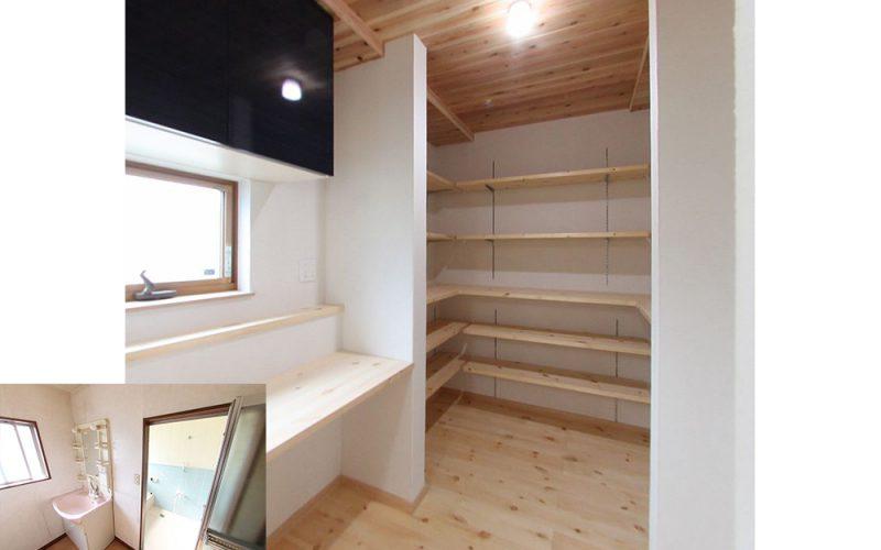 広々としたパントリー | 自然素材の注文住宅,健康住宅 | 実例写真 | 東京都練馬区