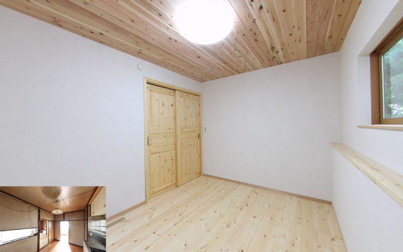 愛工房の杉を天井に使用した寝室 | 自然素材の注文住宅,健康住宅 | 実例写真 | 東京都練馬区