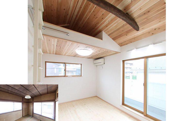 収納スペースとして利用するロフト | 自然素材の注文住宅,健康住宅 | 実例写真 | 東京都練馬区