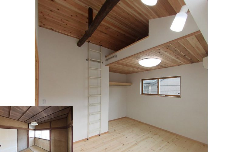 あえて古い梁を出して空間のアクセントに | 自然素材の注文住宅,健康住宅 | 実例写真 | 東京都練馬区