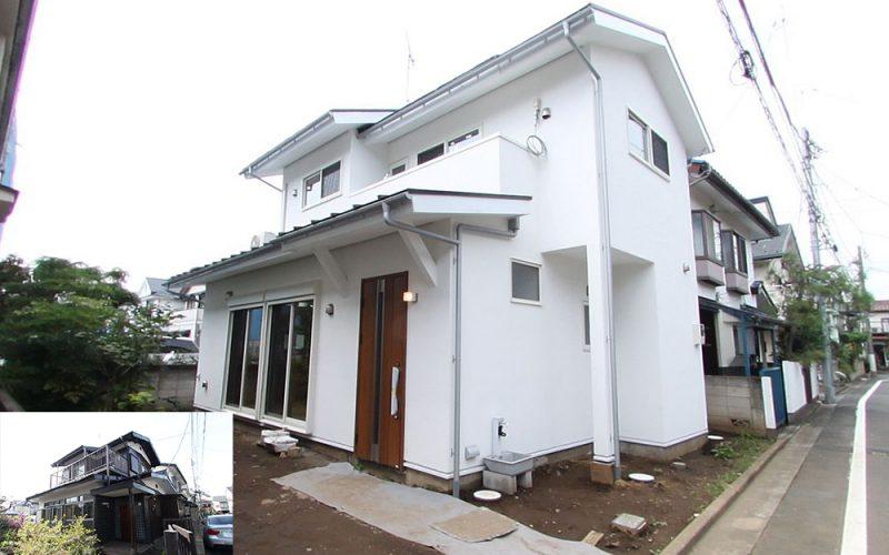 白い壁が美しい外観 | 自然素材の注文住宅,健康住宅 | 実例写真 | 東京都練馬区