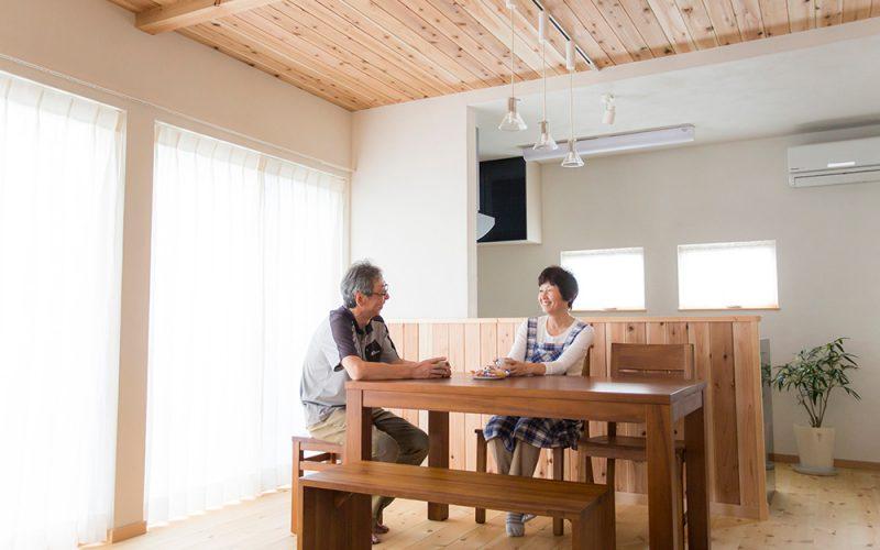 無垢材と漆喰で心地よいリビング | 自然素材の注文住宅,健康住宅 | 実例写真 | 東京都練馬区