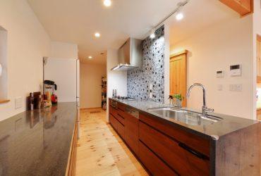人工大理石キッチン | 自然素材の注文住宅,健康住宅 | 実例写真 | 宮城県仙台市