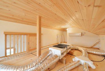 ロフトを24時間換気と夏用エアコンの機械室に | 自然素材の注文住宅,健康住宅 | 実例写真 | 宮城県仙台市