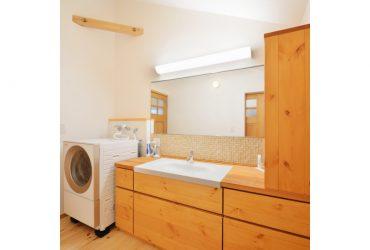 収納力たっぷりの洗面化粧台 | 自然素材の注文住宅,健康住宅 | 実例写真 | 宮城県仙台市