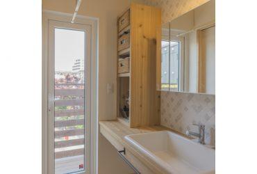 タイルがアクセントの洗面台 | 自然素材の注文住宅,健康住宅 | 実例写真 | 埼玉県さいたま市
