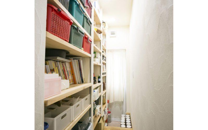 壁面に設えた収納棚 | 自然素材の注文住宅,健康住宅 | 実例写真 | 茨城県牛久市