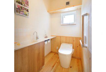 広く清潔感のあるトイレ | 自然素材の注文住宅,健康住宅 | 実例写真 | 宮城県仙台市