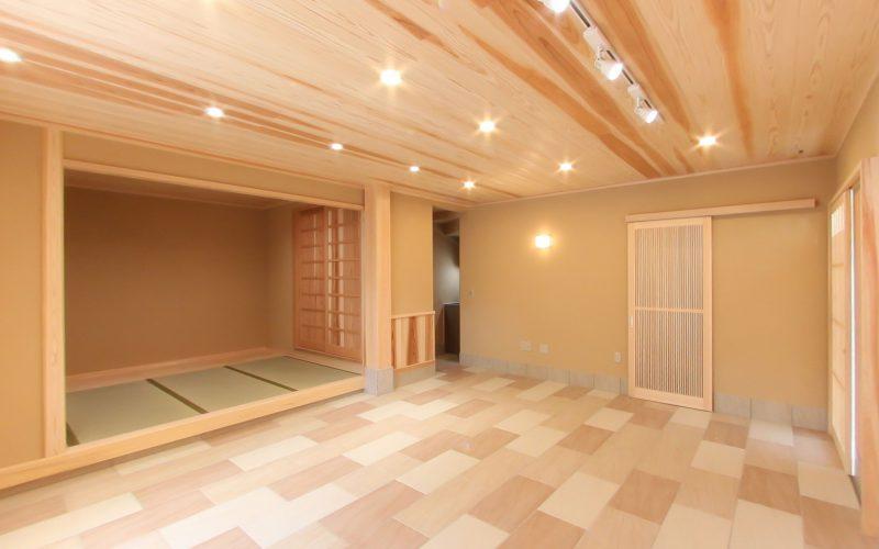 杉板張りの天井 | 自然素材の注文住宅,健康住宅 | 実例写真 | 東京都目黒区
